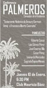 Conmemoraran la Batalla de los Palmeros con una conferencia/debate sobre el Carta (TESTAMENTO HISTORICO) de Amaury German Aristy a Francisco Alberto CaamañoDeño.